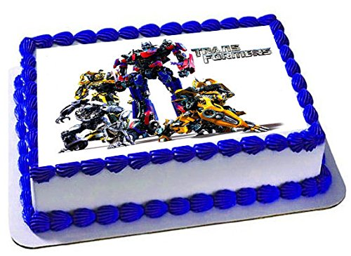 14 Sheet Transformers Edible Frosting Cake Topper Walmartcom