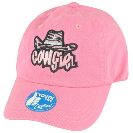 Cowgirl Colorado Pink Youth Garment Wash Relaxed Slouch Girl  Hat Cap