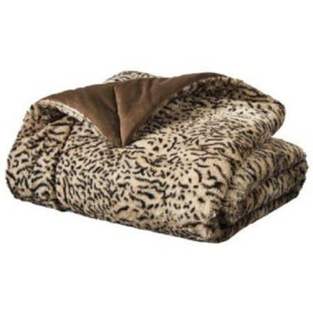 Cannon Faux Fur Tan Cheetah Spot Throw Blanket So Soft Plush Mink Awesome Cannon Electric Throw Blanket