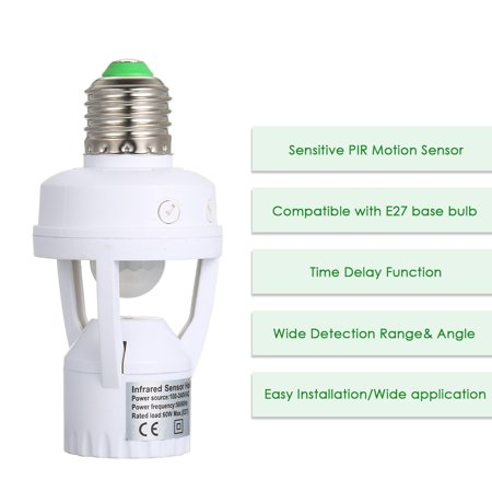 Sensitive Pir Motion Sensor E27 Led Bulb Base Socket