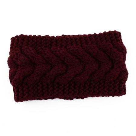 Plain Braided Knitted Head Wrap Hair Ornament Sports Skiing Headband