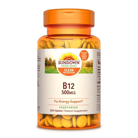 Sundown Naturals B12 Tablets, 500 mcg, 200 - Forte 500 Tablets