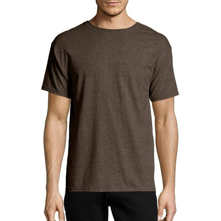Hanes Big & tall men's ecosmart soft jersey fabric short sleeve (Cotton Long Sleeve Green)