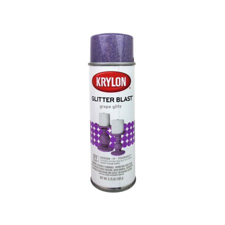 Krylon Glitter Blast Paint 5.75oz Grape Glitz