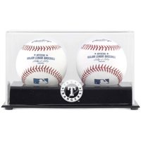 Texas Rangers Two Baseball Cube Logo Display Case