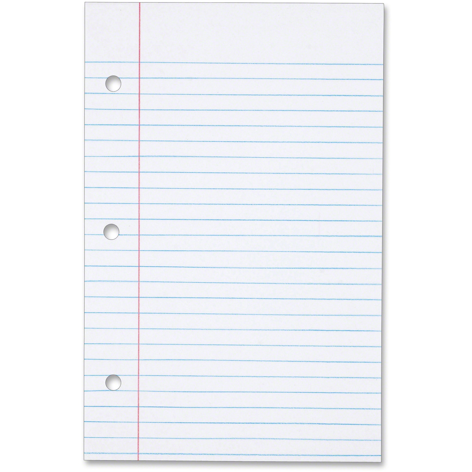 TOPS, TOP62304, 3-hole Punched College-ruled Filler Paper, 100 / Pack