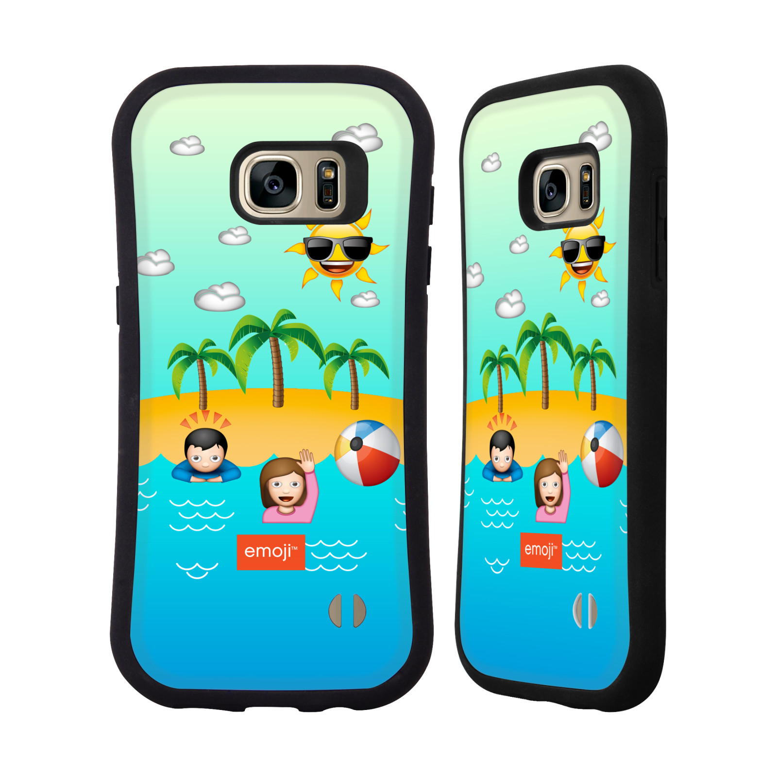 OFFICIAL EMOJI HAPPY SUMMER HYBRID CASE FOR SAMSUNG PHONES