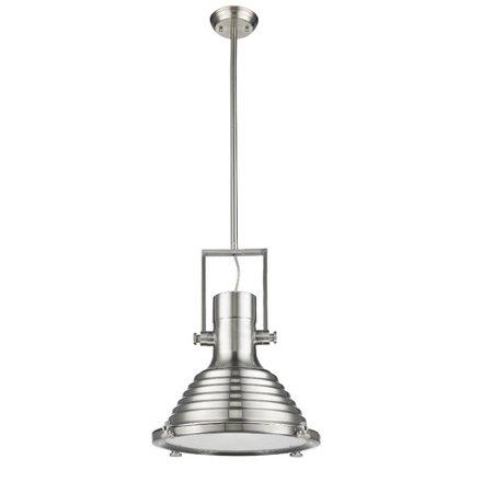 Nickel 16 Light - CHLOE Lighting WALTER Industrial-style 1 Light Brushed Nickel Ceiling Mini Pendant 16