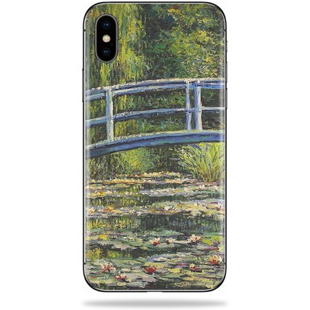 Skin For Apple iPhone XS Max - White Water Lilies | Protective, Durable, and Unique Vinyl Decal wrap cover | Easy To Apply, Remove, and Change Styles