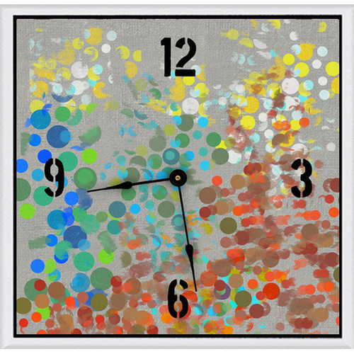 Green Leaf Art Party Circles 20'' Art Wall Clock