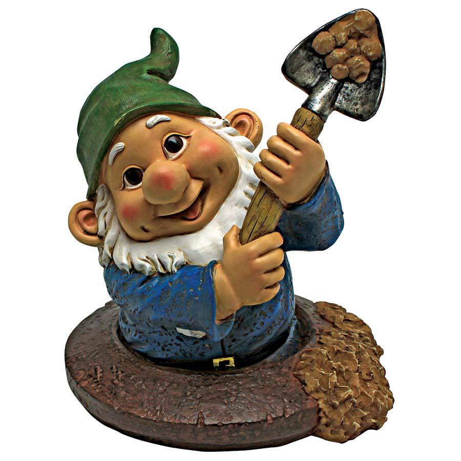 Shoveling Sam, the Garden Gnome Statue by Design Toscano