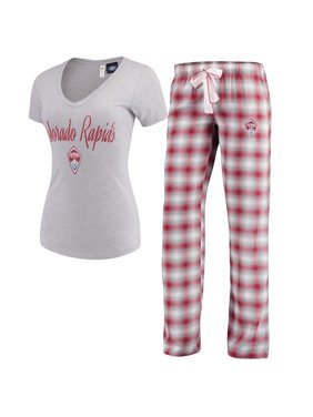 Colorado Rapids Concepts Sport Women's Forge Flannel Set - Red/Gray