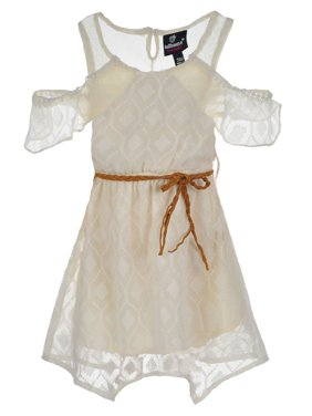 2b8f31f20ca0 Product Image Dollhouse Baby Girls' Belted Cold Shoulder Dress