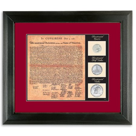 American Coin Treasures Birth of a Nation Declaration of Independence Framed