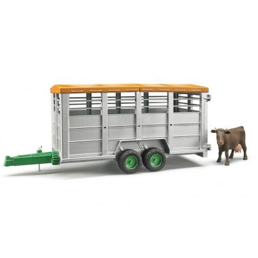 Livestock Trailer with Cow - Vehicle Toy by Bruder Trucks...