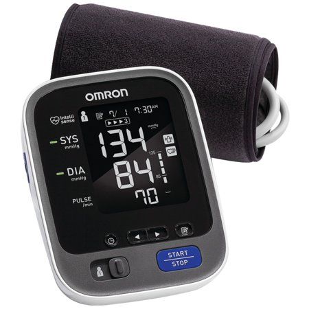 Omron BP786 10 Series Advanced-Accuracy Upper Arm Blood Pressure Monitor With Bluetooth Connectivity & CFX-WR17 Advanced-Accuracy Series Wide-range Comfit Cuff