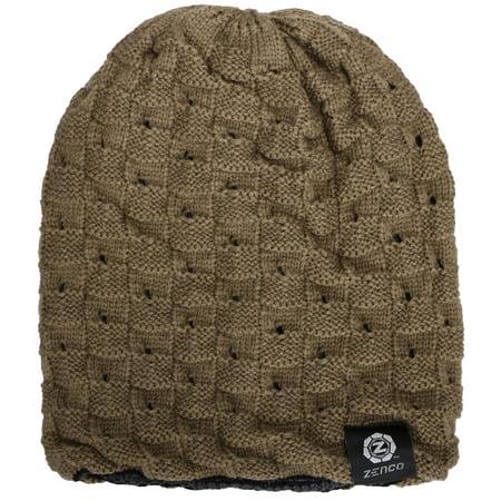 56e293af3623f Zenco Men   Women s Winter Handcrafted Knitted Baggy Slouchy Beanie Hat  Khaki - Walmart.com
