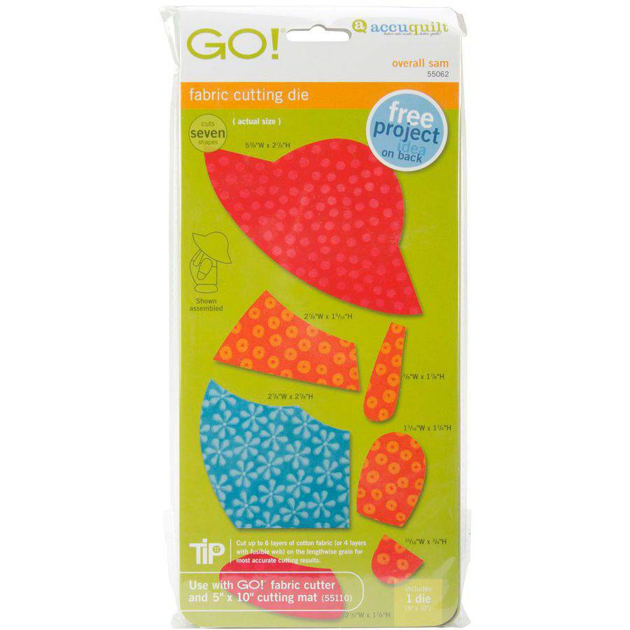 GO! Fabric Cutting Dies-Overall Sam