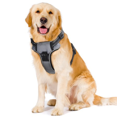 Petacc Tactical Dog Training Vest Harness Pet Hunting Pack Vest Dog Vest Coat, Suitable for Medium and Large Dogs for Camping, Hiking, Hunting and Other Outdoor