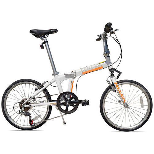 Allen Sports Central 7-Speed Folding Bicycle with Suspension