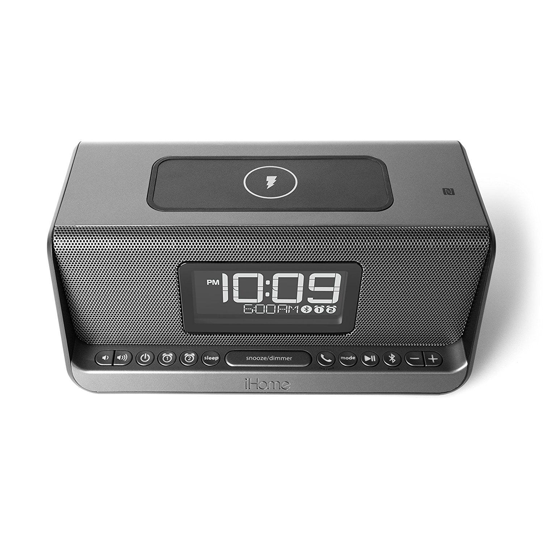 62d21266050 iHome iBN350 NFC Bluetooth Stereo Dual Alarm Clock with Speakerphone ...