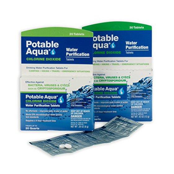 Surprising Potable Aqua Chlorine Dioxide Water Purification Tablets 20 Ea Home Interior And Landscaping Ologienasavecom