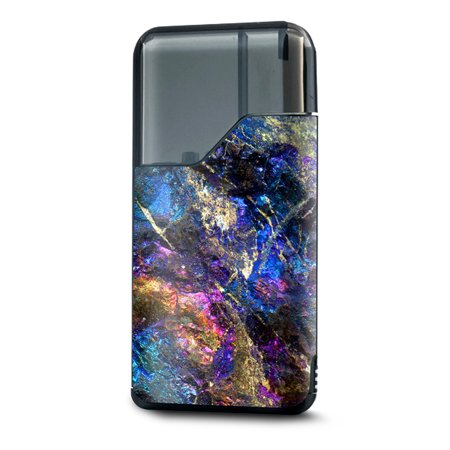 Skin Decal for Suorin Air Vape Pod / chalcopyrite colorful purple glass rock crystal - Purple Rock