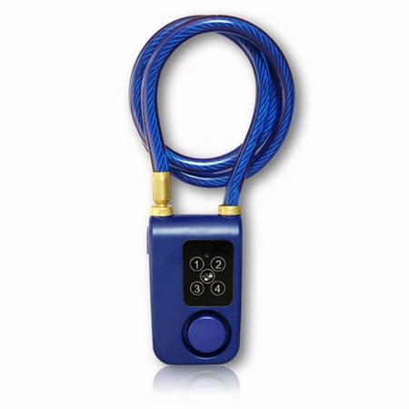 Waterproof Smart Lock Automatic Alarm, Bike/Motorcycle/Gate Lock With 110db Alarm 0.38