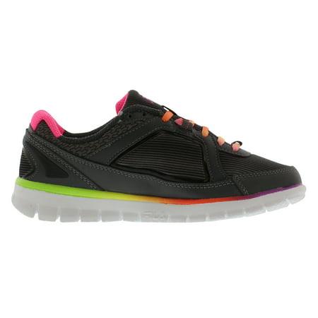 Fila Women's Finest Hour Neoprene Dark Shadow Black Knockout Pink Ankle High Running Shoe 7M
