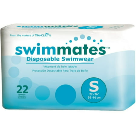 Swimmates Disposable Adult Swim Diapers, Small 22 ea