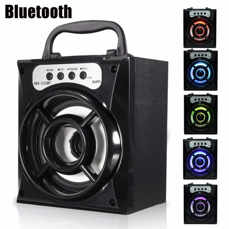 Portable Mobile MultiMedia Wireless Stereo bluetooth LoudSpeakers Subwoofer Soundbox Party Karaoke LED Outdoor Indoor Speaker Handfree USB AUX FM Radio TF For iPhone Sams