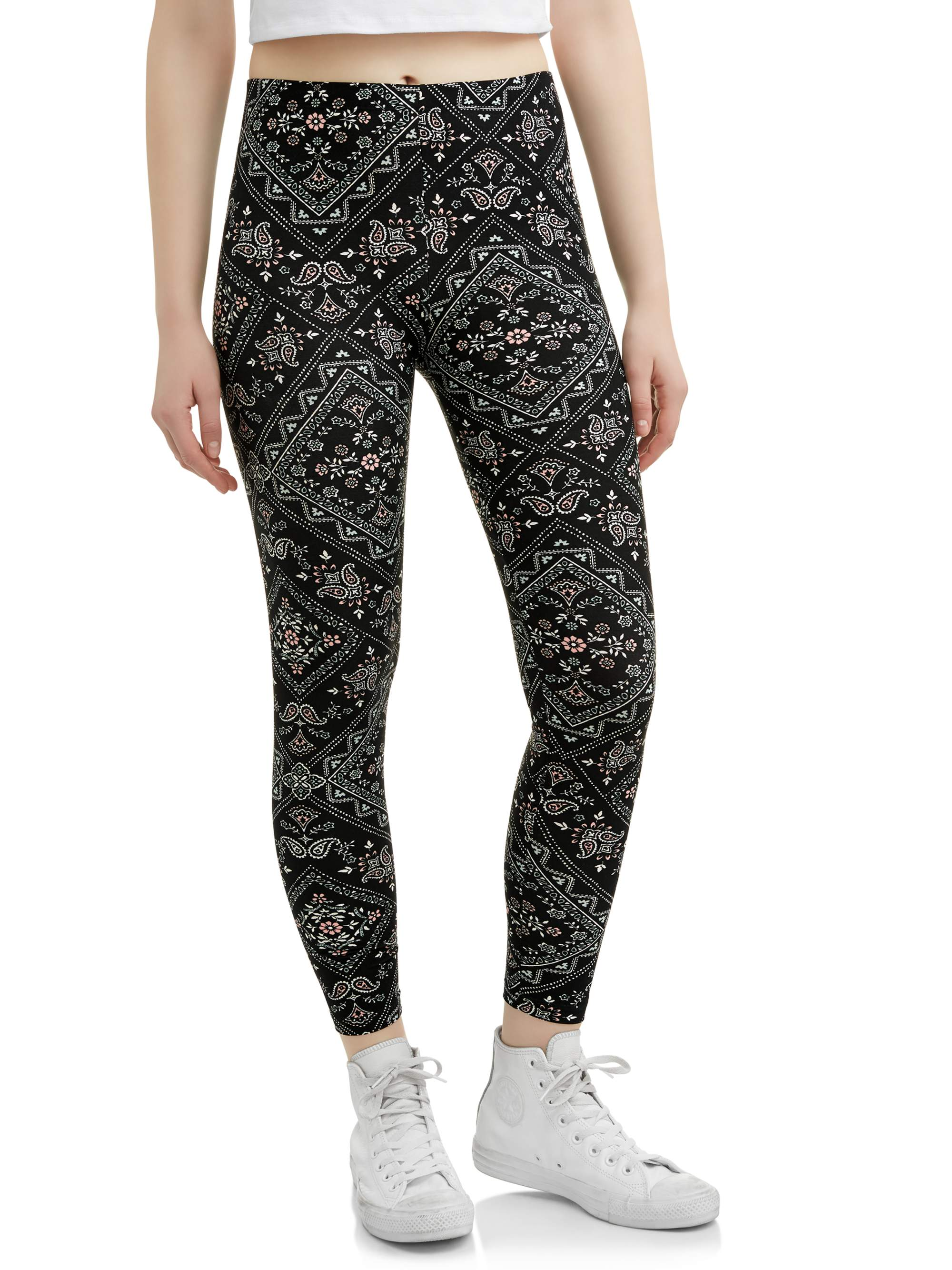 Juniors' Printed Peached Legging