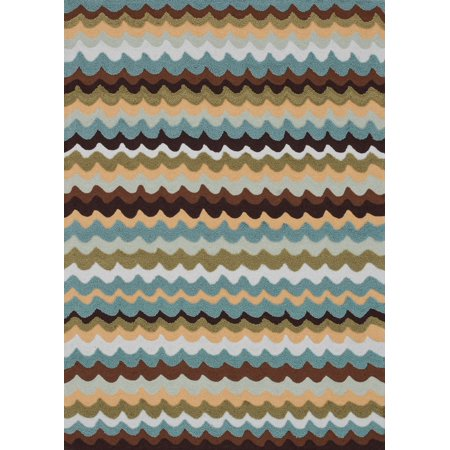Contemporary Juliana Collection Area Rug In Earth And Oval Rectangle Round Runner Shape Com