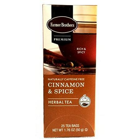 Farmer Brothers Cinnamon & Spice Herbal Tea Tea- 25 (Private Selection Sweet Cinnamon Spice Herbal Tea Ingredients)