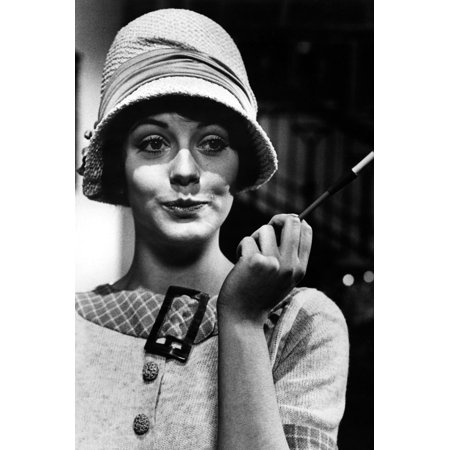 Lesley-Anne Down in Upstairs, Downstairs in 1920's style hat and cigarette holder 24x36 Poster (1920s Hats)