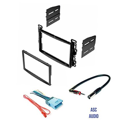 ASC Double Din Stereo Dash Kit, Wire Harness, and Antenna