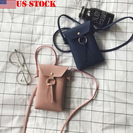 Wallet Purse With Strap (Mini Cross body Cell Phone Shoulder Strap Wallet Pouch Bag Purse For iPhone 6)