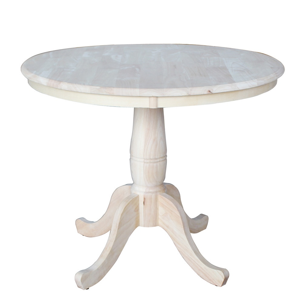 Unfinished 30 Inch High Round Pedestal Table