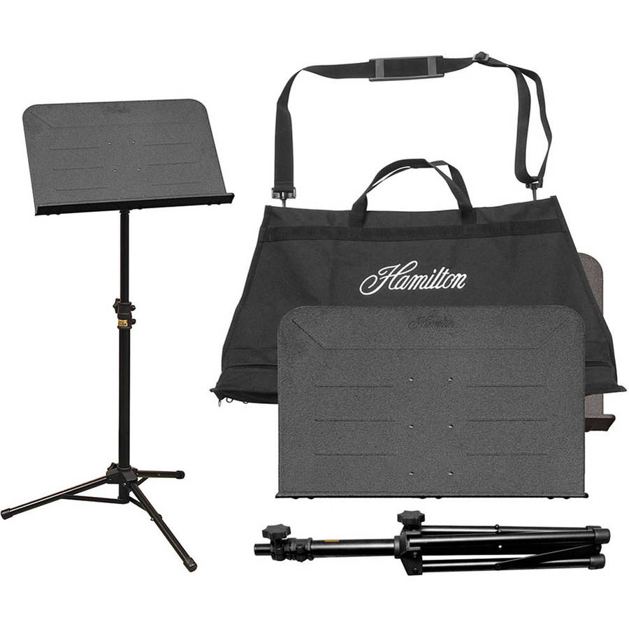 Hamilton Stands The Traveler II Portable Music Stand with Bag, Black