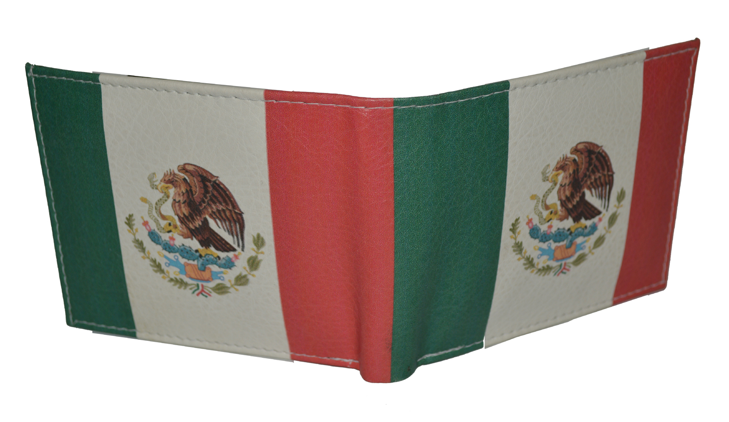 Mexico Mexican Flag Leather Men/'s Handcrafted Bifold Wallet Tem/'s