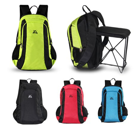 47L Camping Travel Backpack with Folding Chair Backpack and Stool Chair Combo Gear for Outdoor Hiking Fishing - image 7 de 7
