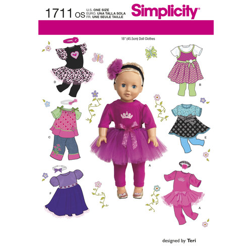 "Simplicity Crafts 18"" Doll Clothes"