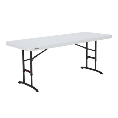 Lifetime 6-Foot Adjustable Height Table in White (Commercial), - Variable Height Table