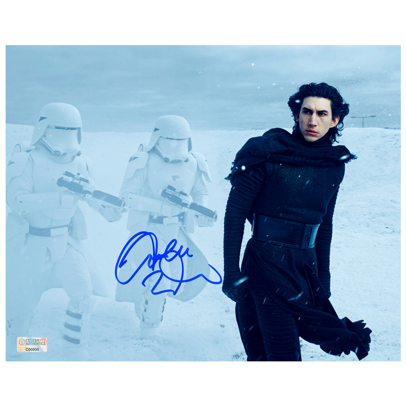 Adam Driver Autographed Star Wars: The Force Awakens 8?10 Kylo Ren Scene Photo