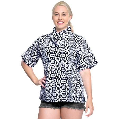 4663aff89ac07 LA LEELA - LA LEELA Hawaiian Shirt Blouses Button Down Relaxed Fit ...