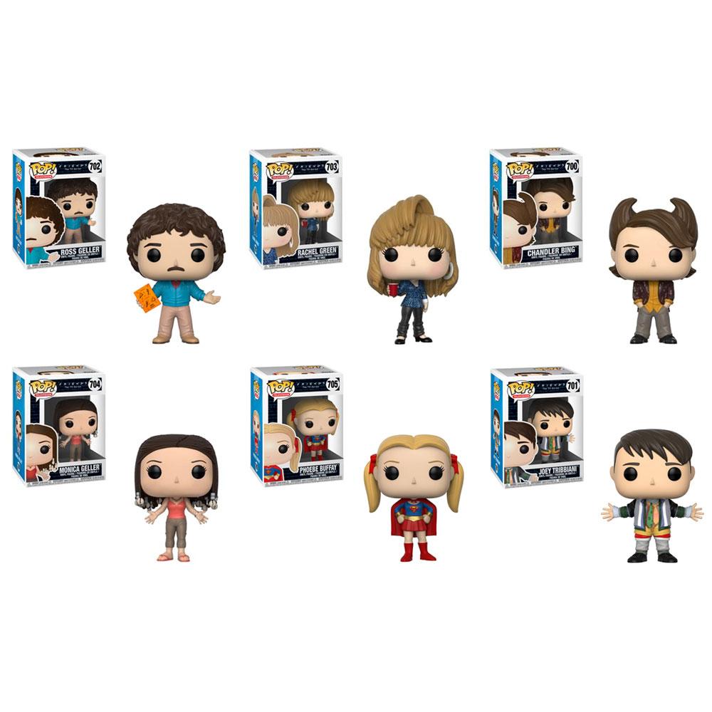 Funko POP! Television - Friends S2 Vinyl Figures - SET OF 6 (Ross, Rachel, Joey, Chandler, Monica &