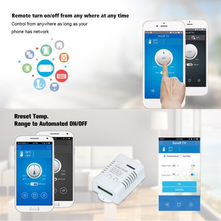 eWeLink -16 Wifi Switch 16A/3500W Monitoring Temperature Smart Switch Home  Automation Kit Compatible With Home