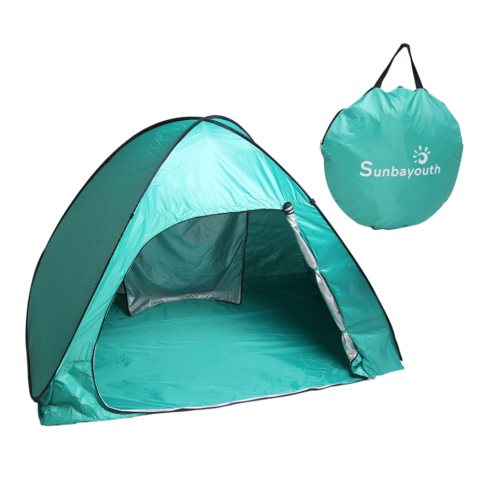 Sunbayouth Pop Up Tent Portable C&ing Tent for 3 person Outdoor Automatic Beach Tent  sc 1 st  Walmart & Three Sided Shelters