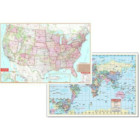 Kappa Us And World Advanced Physical Map Set
