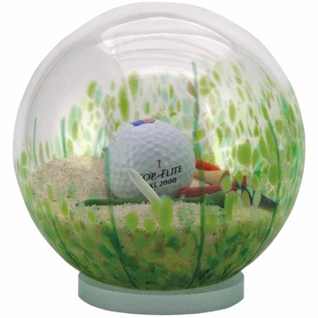 "Sand Trap Golf Globe - Hand-blown Glass - 6"" Diameter Water Globe - By Glass Eye Studio"